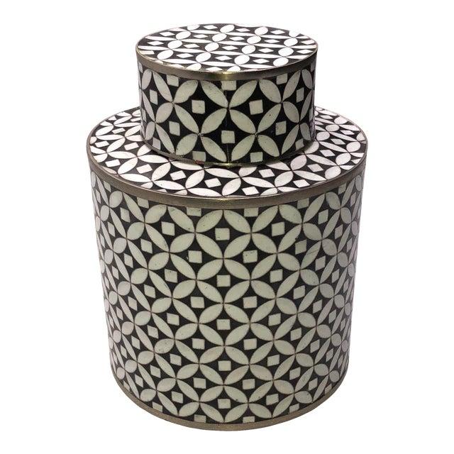 Geometric Fabienne Jouvin Tea Jar Canister For Sale