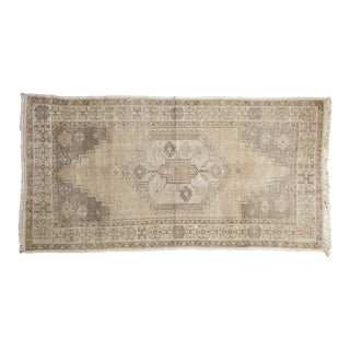 "Distressed Oushak Rug Runner - 3'6"" X 6'8"" For Sale"