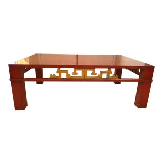 Mid-Century Modern Asian Style Heritage Henredon Coffee Table For Sale