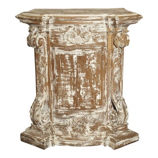 18th Century Parcel Paint Pedestal from Belgium For Sale
