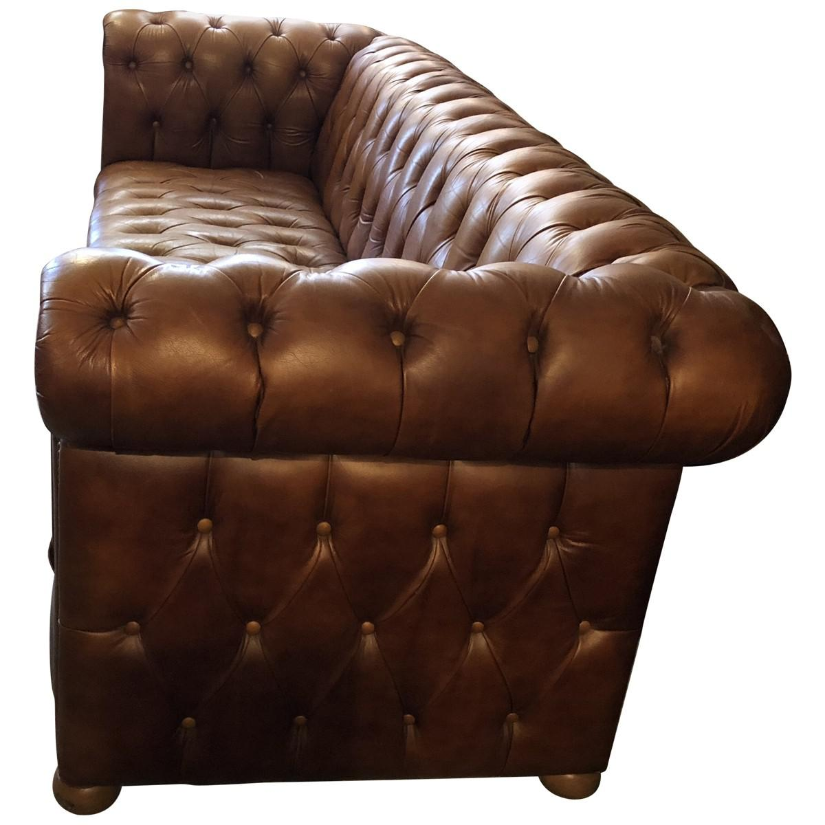 Ralph Lauren Tufted Leather Chesterfield Sofa Decorating Interior