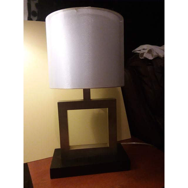Modern Minimalist Square Table Lamp For Sale - Image 5 of 9