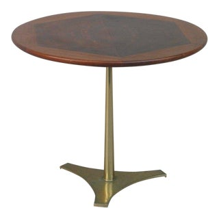 1950s Mid-Century Modern Milo Baughman Brass Trifoil Table For Sale