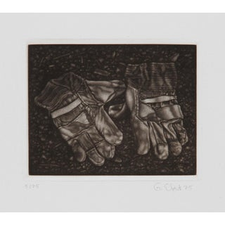 Gerde Ebert, Pair of Gloves, Mezzotint For Sale