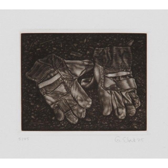 Gerde Ebert, Pair of Gloves, Mezzotint For Sale