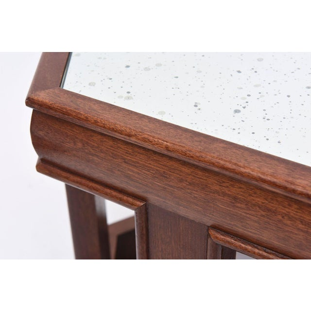 White Mahogany and Mirrored Occasional Tables For Sale - Image 8 of 9