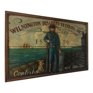 Wilmington Disabled Veterans Pub Sign