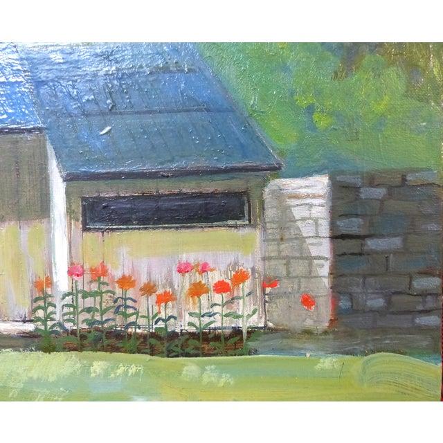 Robert Blanchard Mid-Century Cottage Oil Painting - Image 2 of 9