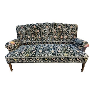 Early 21st Century Vintage Bokja Tufted Channel Back Settee For Sale