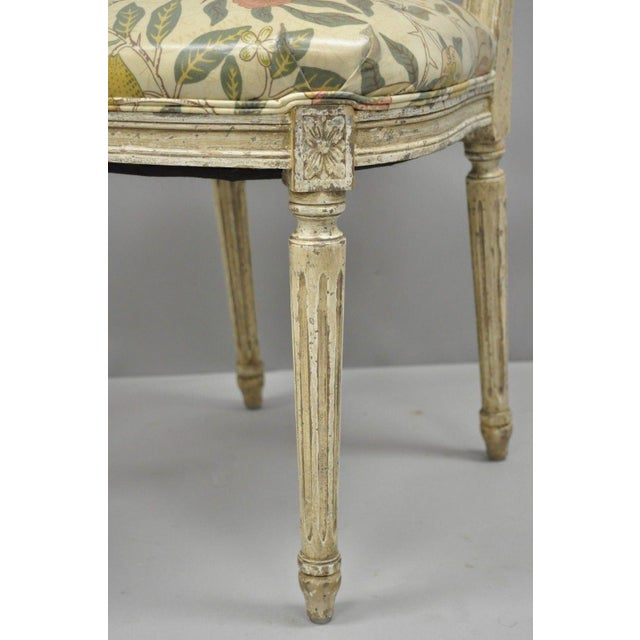 20th Century Louis XVI French Style Hot Air Balloon Back Dining Chairs - Set of 6 For Sale - Image 12 of 13