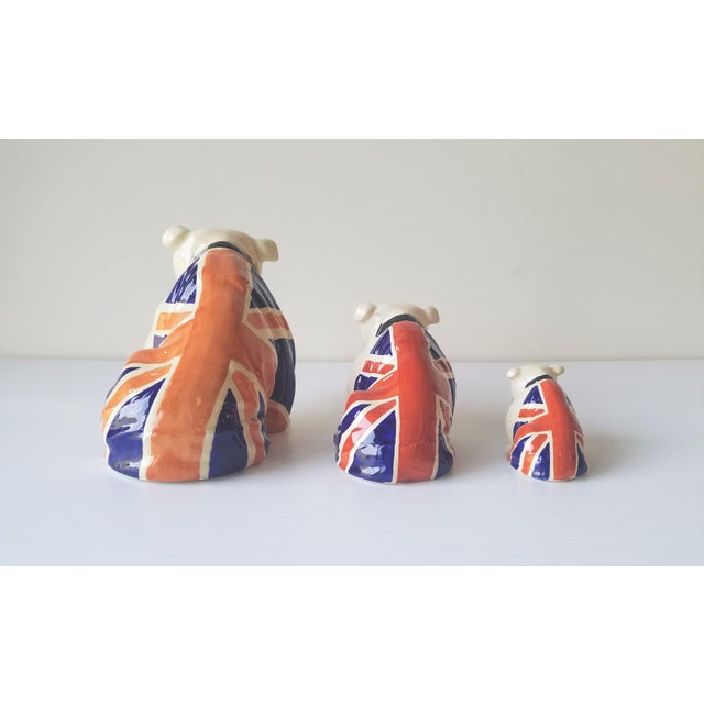 1940s 1940s Royal Doulton Winston Churchill English Bulldogs / Union Jack Bulldogs - Set of 3 For Sale - Image 5 of 13