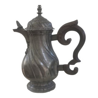 Late 18th Century Antique Pewter Jug