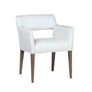 White Upholstered Dining Chair For Sale