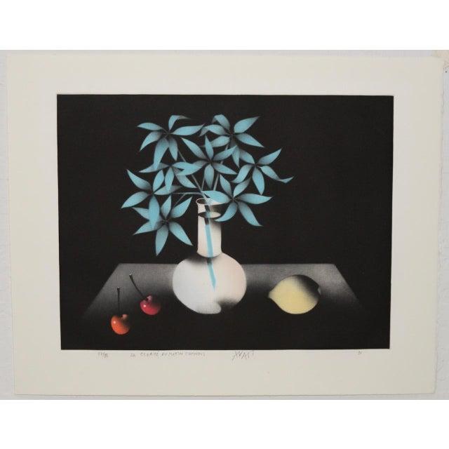 "Black Mario Avati ""La Clarté Du Matin Chinois"" Mezzotint C.1991 For Sale - Image 8 of 8"