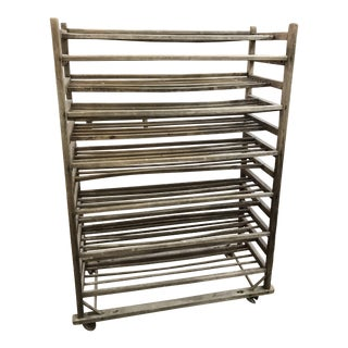 Antique Industrial French Bakers Rack - Boulangerie Rack