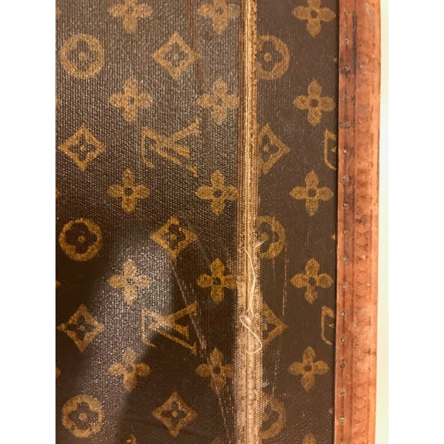 1930s Louis Vuitton Leather Trunk or Suitcase For Sale - Image 10 of 13