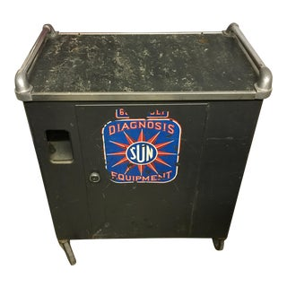 Mid-Century Industrial Metal Automotive Cart For Sale