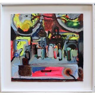 "Modern Oil Painting by Irish Artist Elizabeth Cope ""Back of Bush Radio"" For Sale"