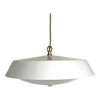 White Saucer Style Chandelier For Sale