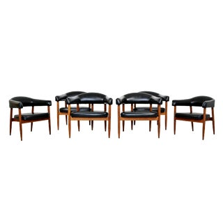 Mid Century Modern Dining Armchairs- Set of 6 For Sale