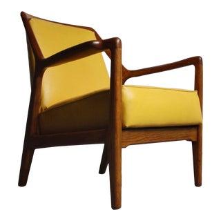 Striking Oak Lounge Chair by Jack Van Der Molen For Sale