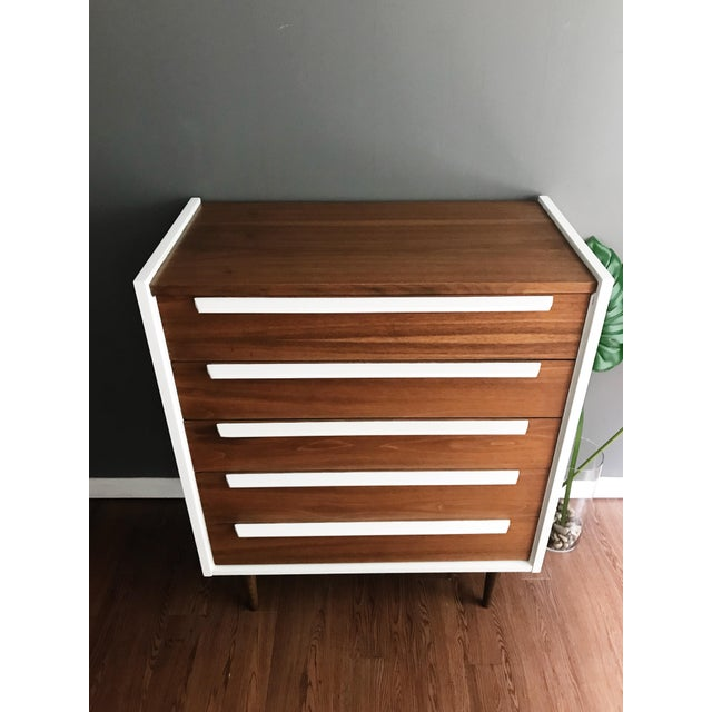 Brown 1970s Mid Century Modern Walnut Dresser For Sale - Image 8 of 10