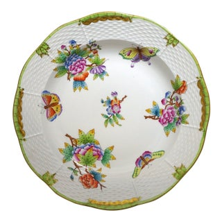 """Queen Victoria 10.5"""" Round Serving Bowl by Herend For Sale"""