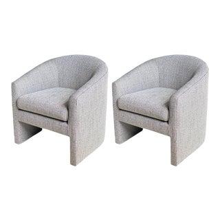1980s Milo Baughman Barrel Side Chairs – a Pair For Sale