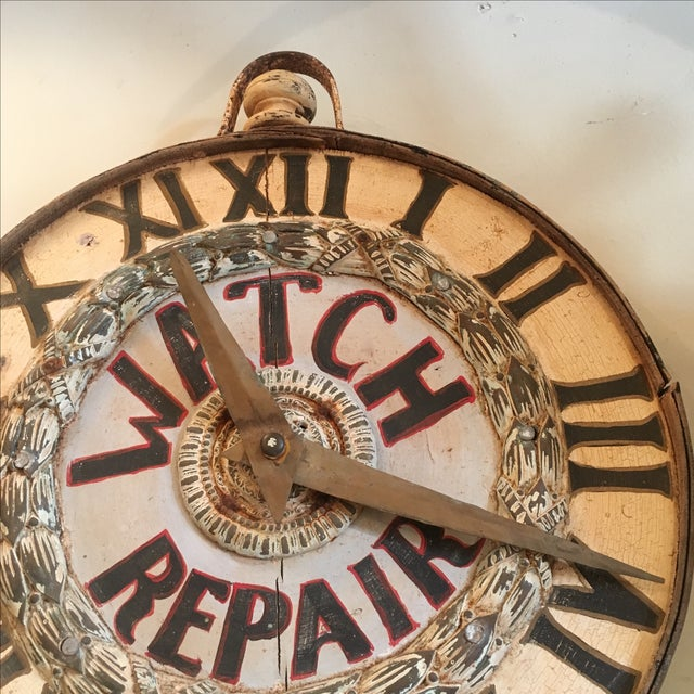 Antique Watch Repair Sign - Image 3 of 5
