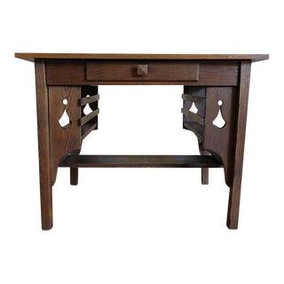 Antique Oak Mission Library Desk For Sale
