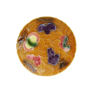 French Majolica Fruit Platter For Sale