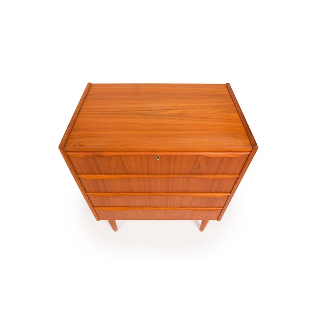 Vintage Danish Mid-Century Four Drawer Chest For Sale - Image 4 of 8