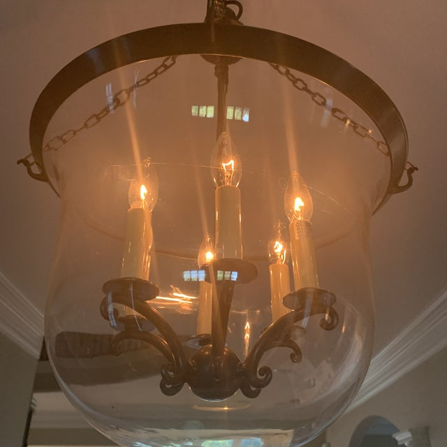 e.f. Chapman Visual Comfort Country Bell Jar Pendant For Sale In Indianapolis - Image 6 of 7