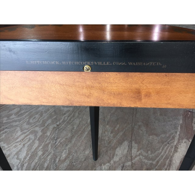 Hitchcock Black/Harvest Demilune Console Table For Sale - Image 5 of 8