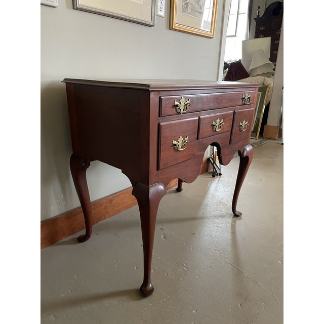 19th Century Queen Anne Style Solid Mahogany Chest With Cabriole Legs For Sale - Image 4 of 13