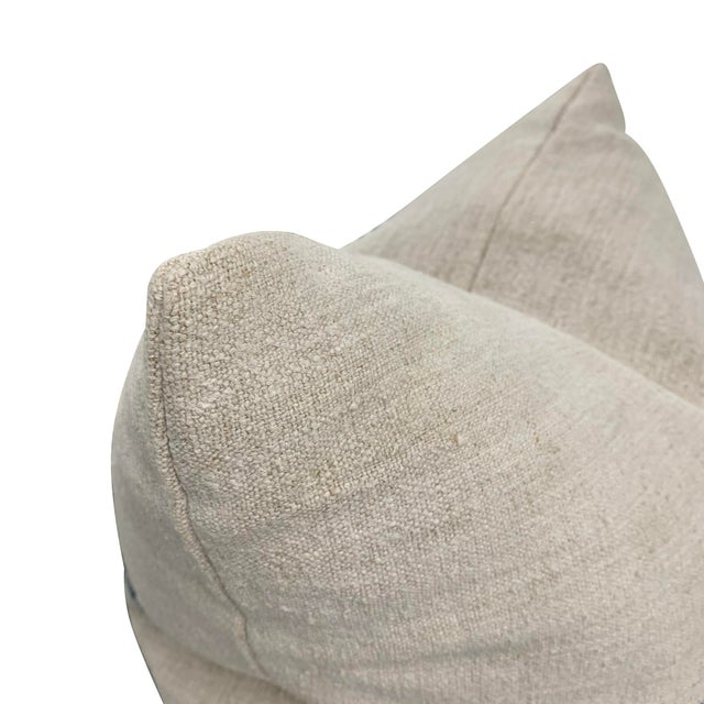 19th Century French Grain Sack Pillow For Sale - Image 4 of 8