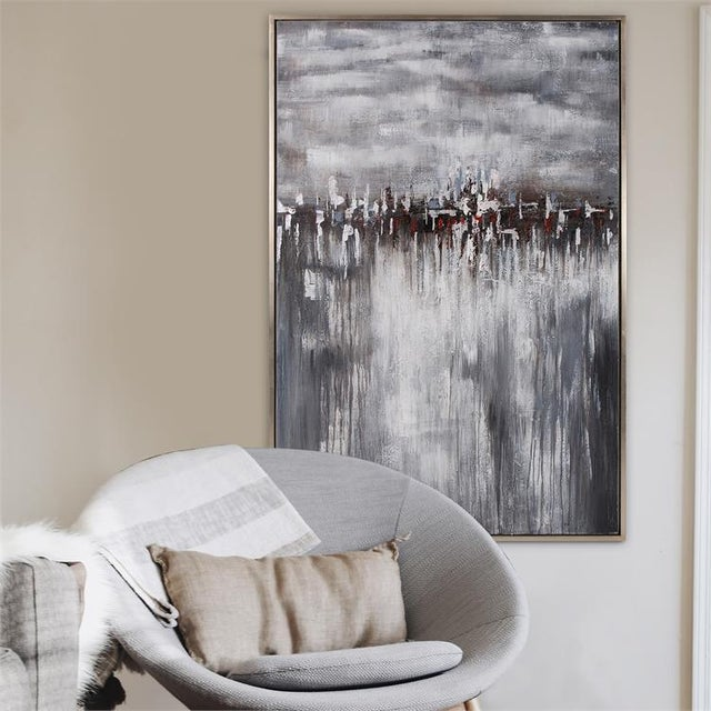 2020s Kenneth Ludwig Chicago In the Moonlight Painting For Sale - Image 5 of 6