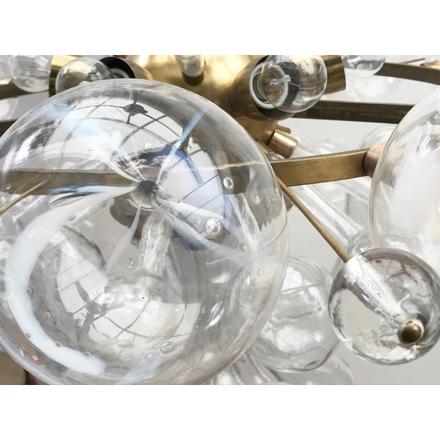 1960s Czech Republic Glass Suspension Chandelier For Sale - Image 11 of 12