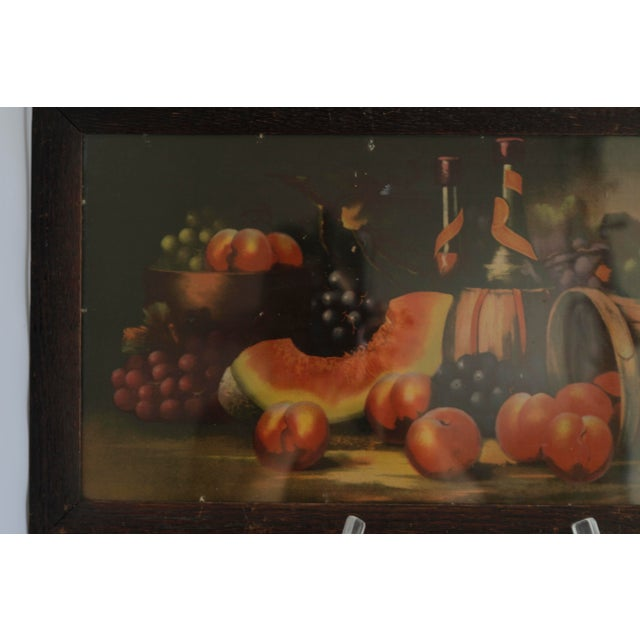 Antique 19th C. Watermelon, Fruit & Wine Painting For Sale - Image 4 of 11