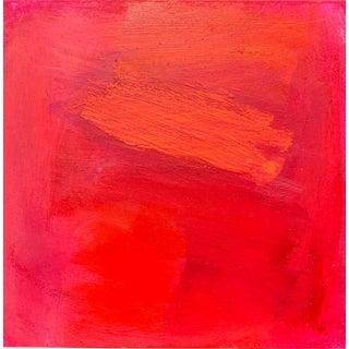 """Hotsy Totsy"" Mini Minimalist Abstract Oil Painting For Sale"
