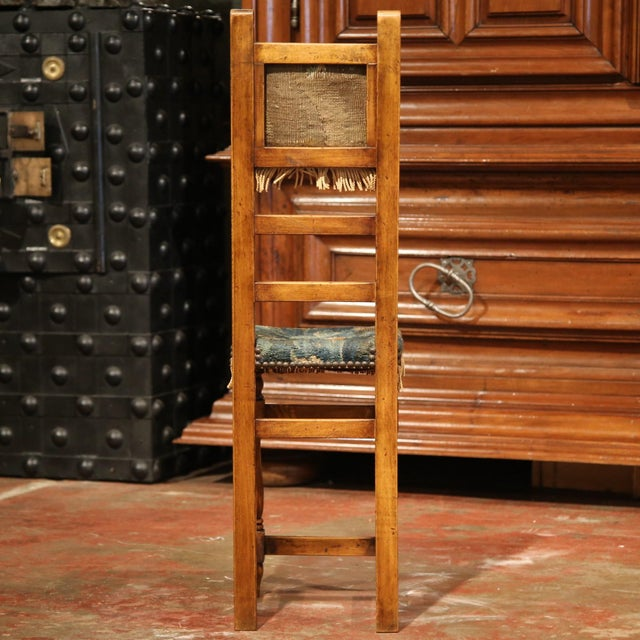 18th Century French Walnut Baby Chair with Aubusson Tapestry For Sale - Image 9 of 9
