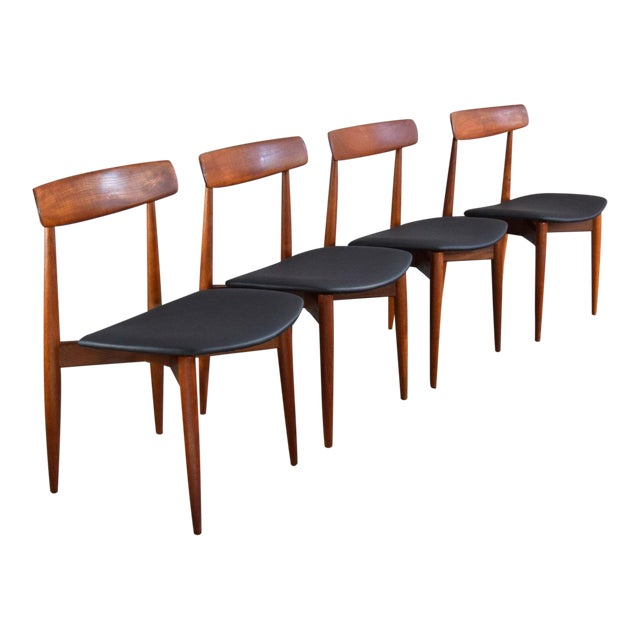 65717b974ee4 Danish Teak   Leather Hw Klein Dining Chairs
