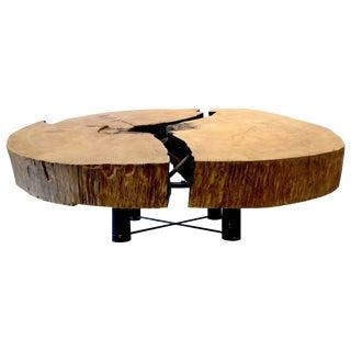 Monumental Brazilian Amazon Mirindiba Wood Tree Trunk 2016 Sculpture Table Base For Sale