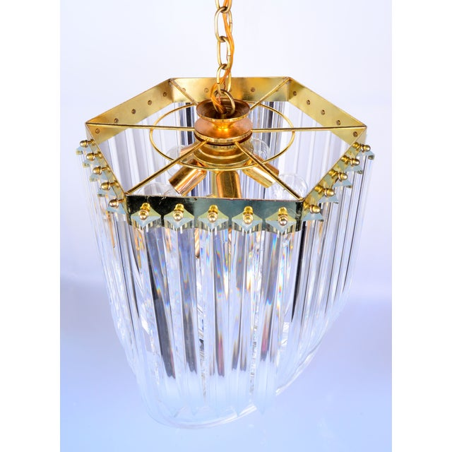 Lucite Ribbon Chandelier With Canopy For Sale In Miami - Image 6 of 11