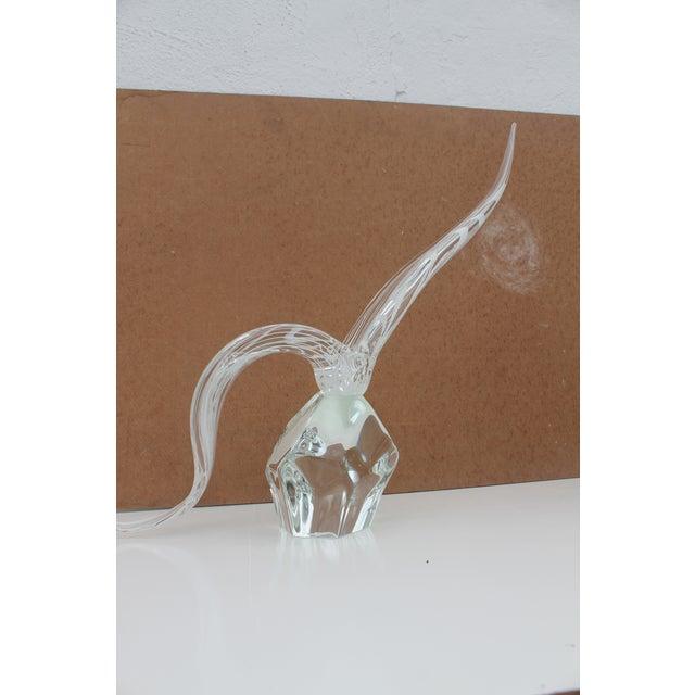 Mid-Century Modern Vintage Art Murano Glass Bird Figure Sculpture By Yanilk L. For Sale - Image 3 of 8