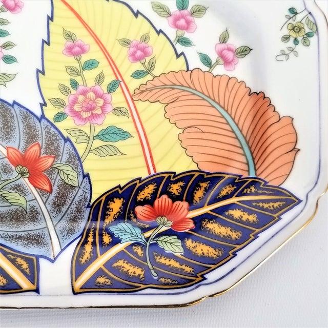 1970s Vintage Japanese Porcelain Tobacco Leaf Tray - Signed 1977 For Sale - Image 5 of 12