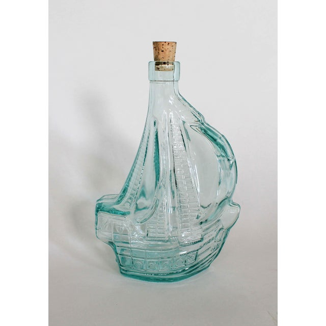 Glass Sailboat Bottle For Sale In Milwaukee - Image 6 of 6