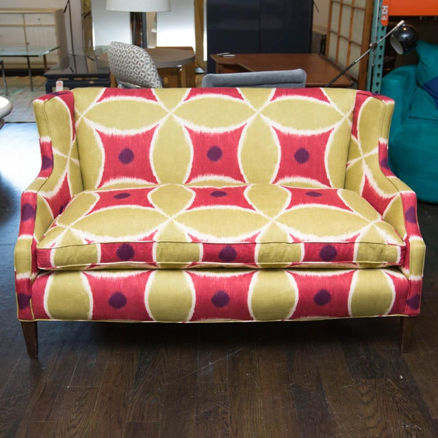 Custom Upholstered Down-Filled Loveseat - Image 2 of 9