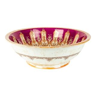 Antique English Glazed Ceramic Bowl For Sale