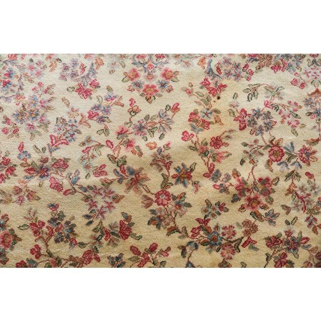 """Traditional Vintage Karastan Kerman Floral Rug- 11'4""""x12' For Sale - Image 3 of 4"""